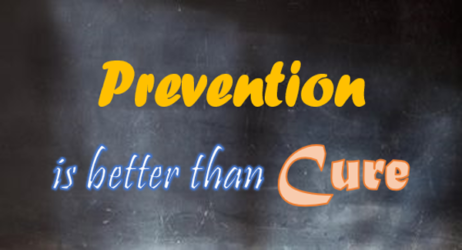 BAD CREDIT? WHY 'PRECAUTION IS BETTER THAN CURE'?
